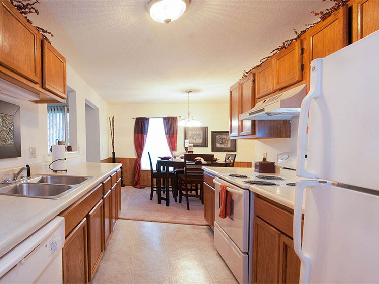 Updated Kitchens At Crown Pointe Apartments In Holland, MI