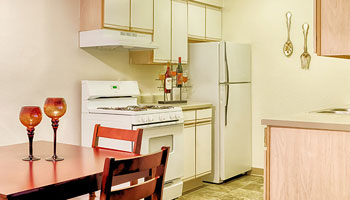 Kitchen of apartments in Minneapolis