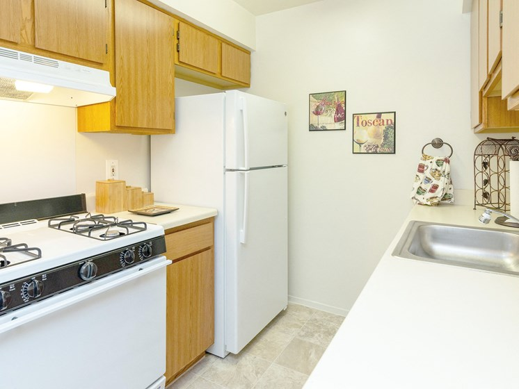 Ample Cabinetry and Counter-top; Gateway Townhomes in Romulus, MI
