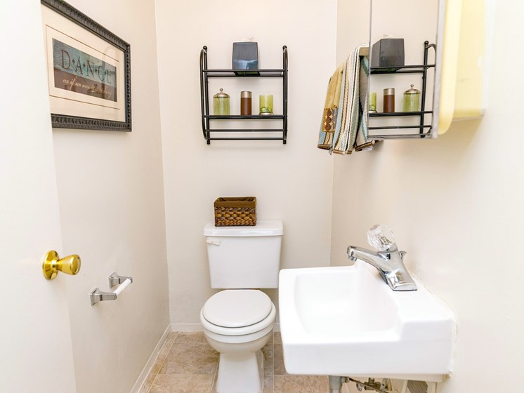 Convenient Half Bathroom; Gateway Townhomes in Romulus, MI