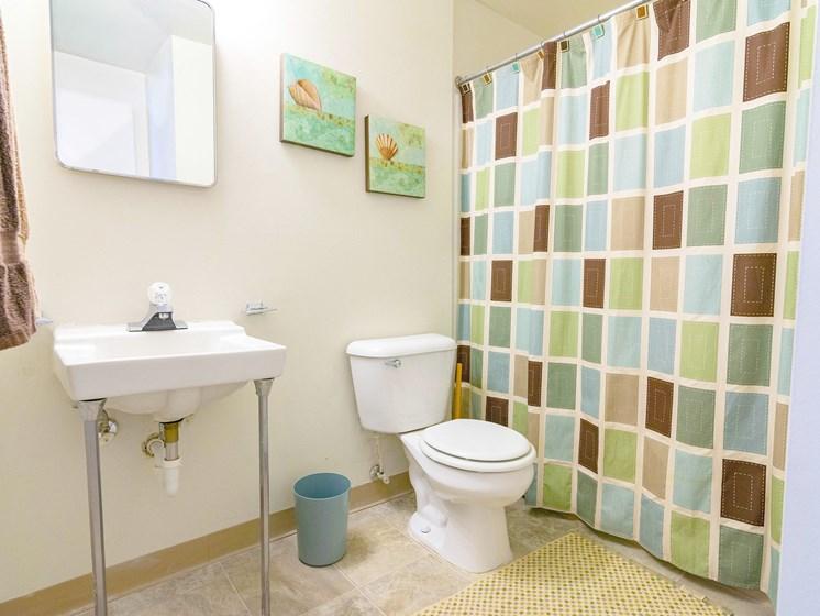 Large Full Bathroom; Gateway Townhomes in Romulus, MI