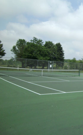 Tennis courts at apartments in Milwaukee