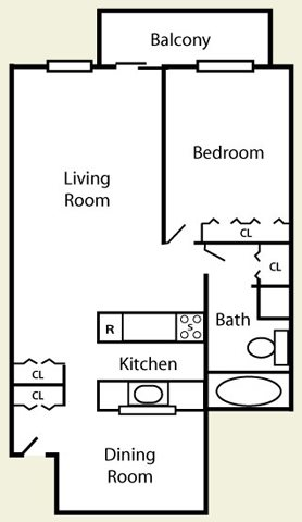 1 Bedroom Extra Large