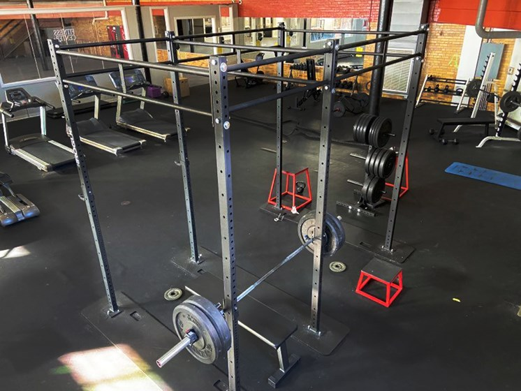 free weights at cleveland apartment fitness center
