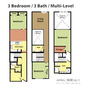 Plan H - 3 BED 3 BATH