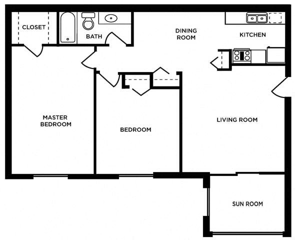 2 bed Levis - Lower Floor Plan 7