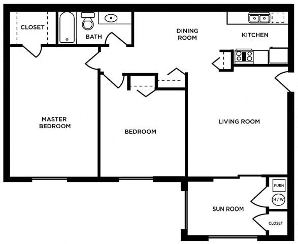2 bed Commodore - Lower Floor Plan 8
