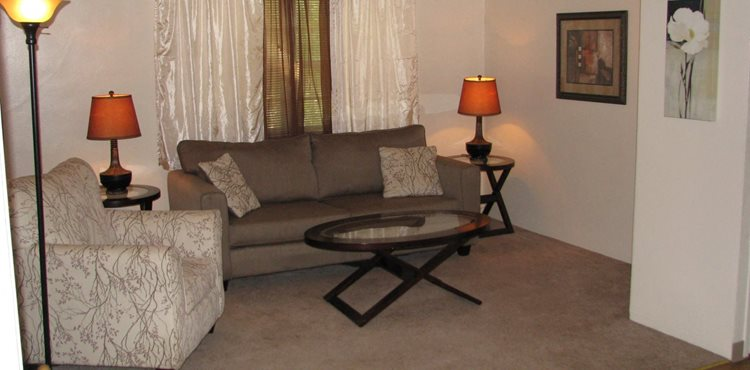 Living room Valley Park Apartments in Sioux City IA