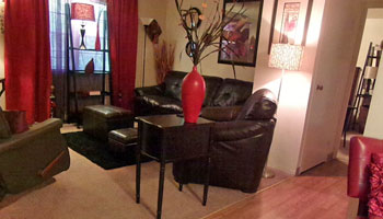 Living room at Valley Park Apartments