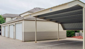 Carports and Garages at Apartments in Norton Shores