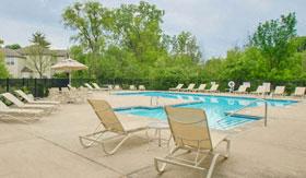 Outdoor pool at Shoreline Landing Apartments in Norton Shores