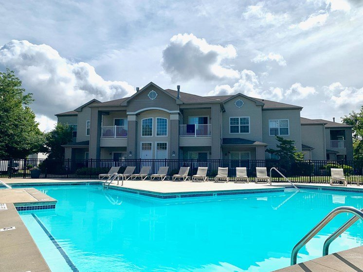 Heated Outdoor Pool at Shoreline Landing Apartments in Muskegon, MI