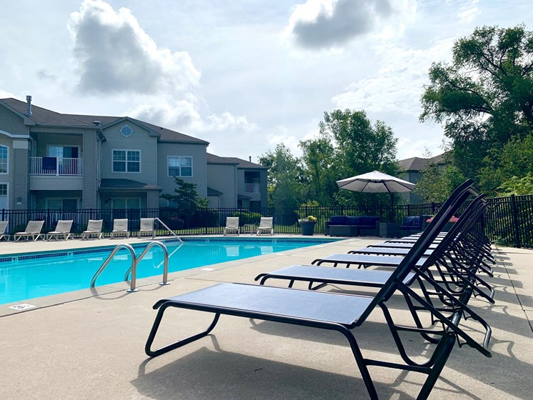Pool and Sundeck at Shoreline Landing Apartments in Norton Shores, MI