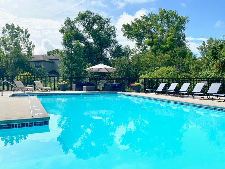 Updated Pool at Shoreline Landing Apartments in Muskegon, MI