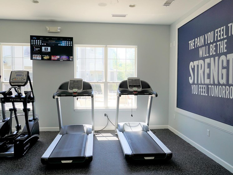 Onsite Fitness Center at Shoreline Landing Apartments in Muskegon, MI