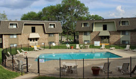 Two Outdoor Pools at Apartments in Kansas City
