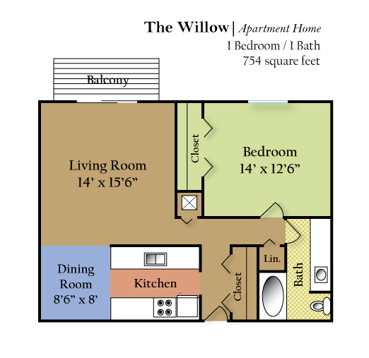 1 bedroom apartments at Knollwood Apartments in Kansas City, MO and in North Kansas City, MO