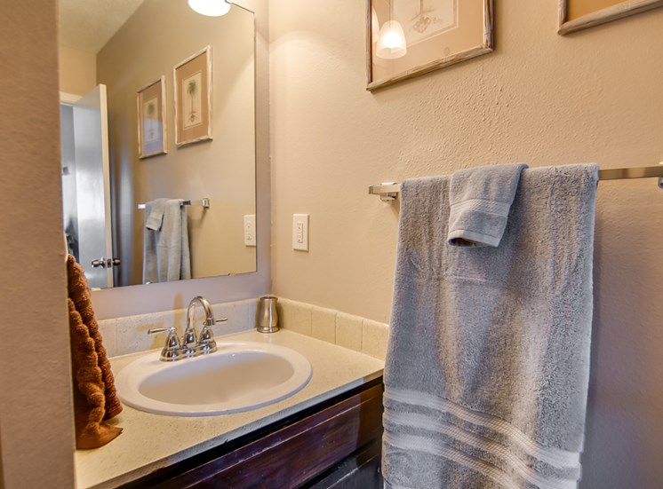Huge bathrooms at Knollwood Apartments in Kansas City, MO and in North Kansas City, MO