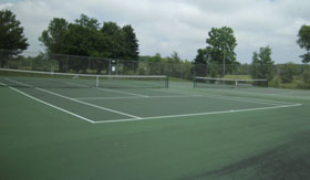Tennis Courts at Harbor Pointe Apartments in Milwaukee