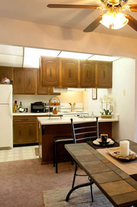 Kitchen of apartments in Milwaukee