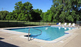 Outdoor Pool at Concorde Club Apartments in Romulus