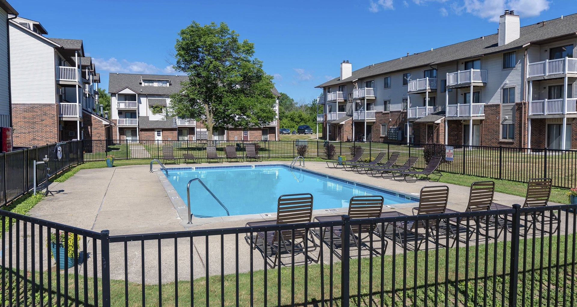 Swimming Pool and Sundeck at Eastland Apartments in Kentwood MI