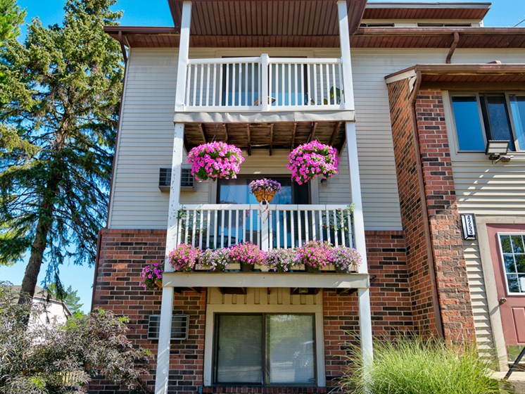 Patio Balcony at Eastland Apartments in Kentwood MI