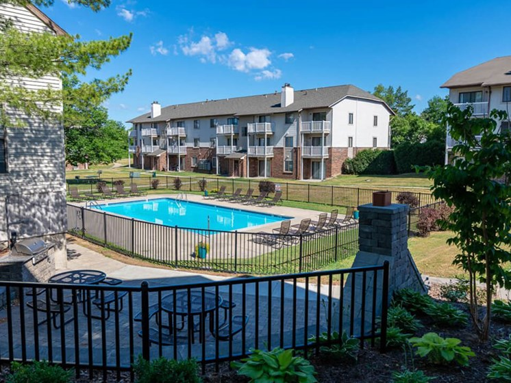 Pool and Sundeck Community Amenity Eastland Apartments in Southeast Grand Rapids MI