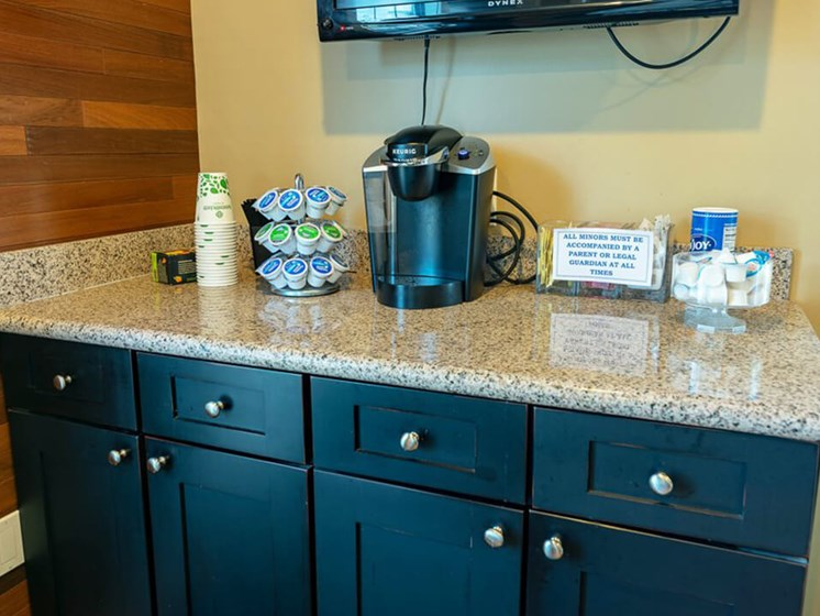 Coffee Bar at Eastland Apartments in Kentwood MI