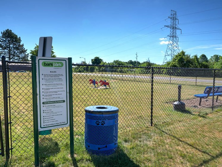 Dog Park at Eastland Apartments in Southeast Grand Rapids MI