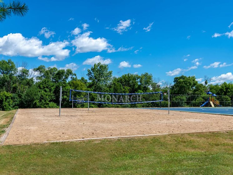 Volleyball Court Community Amenity Eastland Apartments in Kentwood MI