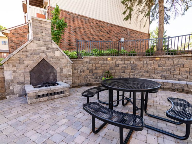 Outdoor Fire Pit at Eastland Apartments in Kentwood MI