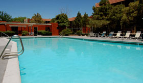 Outdoor pool at Wyoming Place Apartments in Albuquerque