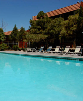Outdoor pool at apartments in Albuquerque