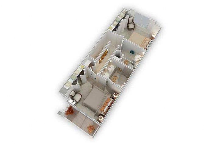 Floor Plans of Bella Vista in Renton, WA