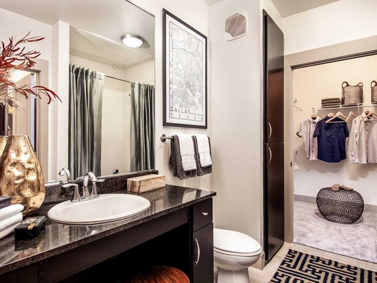 apartment bathroom and closet