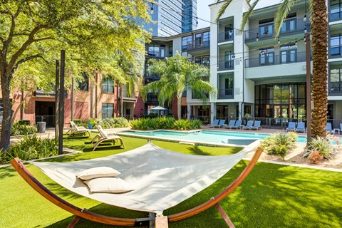 Outdoor Hammocks and Pool