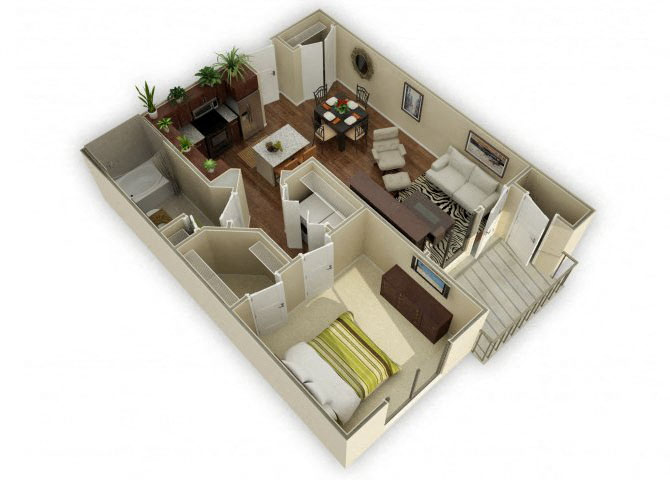 Oaklawn floor plan.