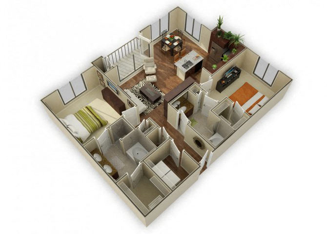 Pebblebrook floor plan.