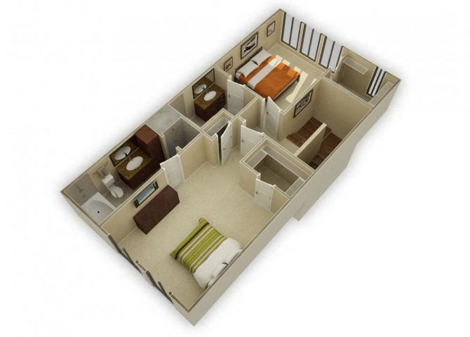 Tosca Townhome with Garage floor plan.