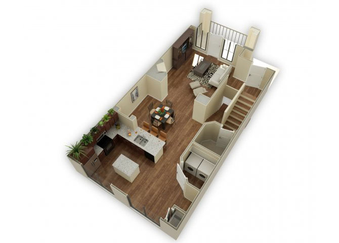 Wexford Townhome with Garage floor plan.