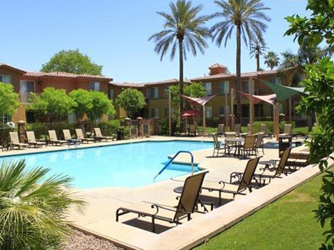 Palm Desert CA Apartments-Canterra Apartments Pool