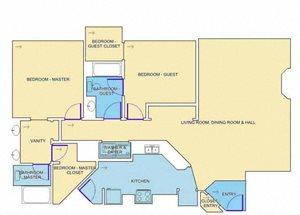 The Aberdeen Renovated floor plan.
