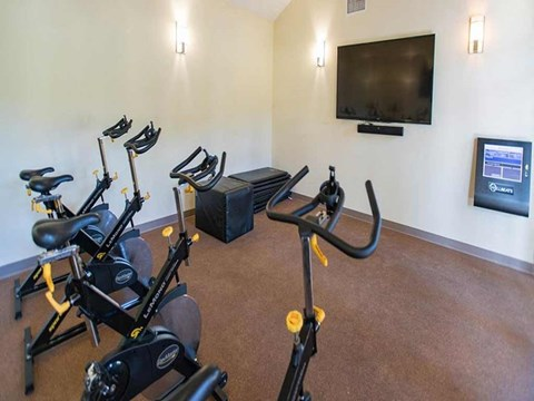 spin gym with TV