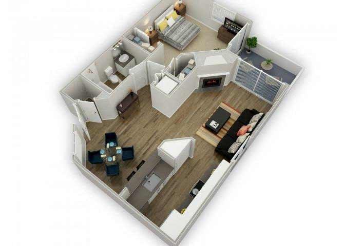Residence D floor plan.