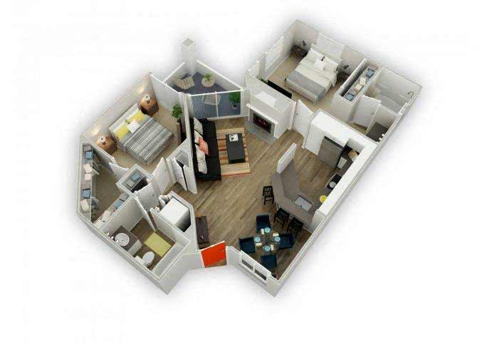 Residence E floor plan.