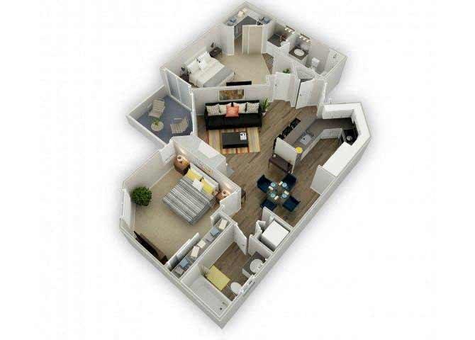 Residence F floor plan.