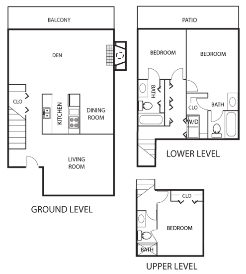 Floor Plans Of Lake Colony Townhomes In Garland, TX
