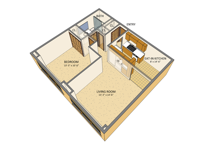 Berkley Manor Apartments - Floor Plan