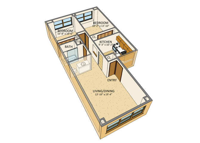 Parkview Manor Apartments - Floor Plan